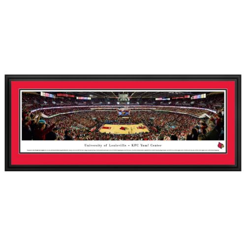 Louisville Cardinals Basketball Arena Framed Wall Art