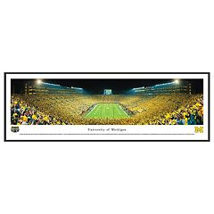 Michigan Wolverines Football Stadium End Zone Framed Wall Art