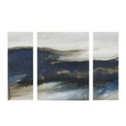 INK + IVY  Rolling Waves Triptych Canvas Wall Art 3 pc Set