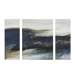 INK + IVY  Rolling Waves Triptych Canvas Wall Art 3-piece Set