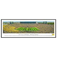 Michigan Wolverines Football Stadium Framed Wall Art