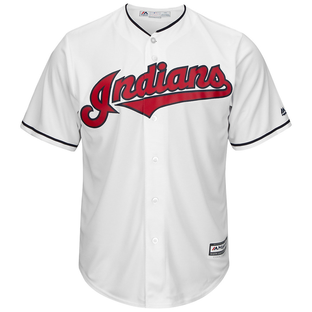 classic fit bb4c6 4c784 Men's Majestic Cleveland Indians Francisco Lindor Cool Base Replica Jersey