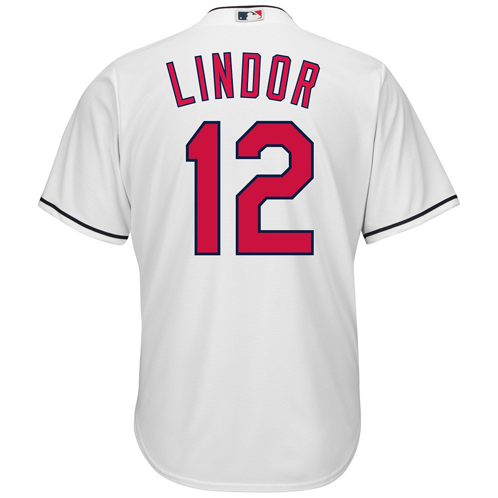 Men's Majestic Cleveland Indians Francisco Lindor Cool Base Replica Jersey