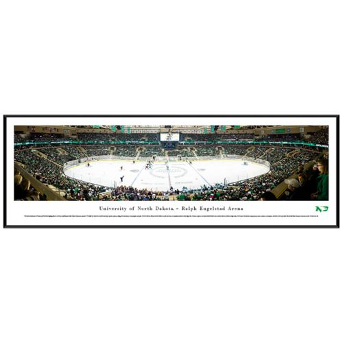 North Dakota Hockey Arena Face Off Framed Wall Art