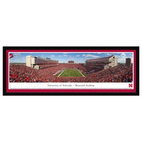 Nebraska Cornhuskers Football Stadium Framed Wall Art