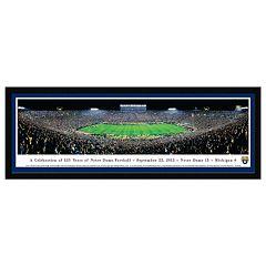 Notre Dame Fighting Irish 125th Year Football Stadium Framed Wall Art