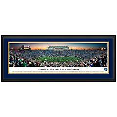 Notre Dame Fighting Irish Football Stadium Twilight Framed Wall Art