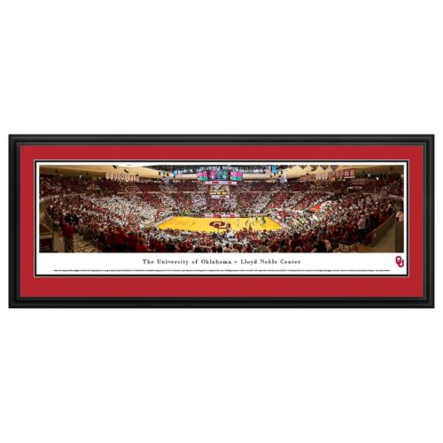 Oklahoma Sooners Basketball Arena Framed Wall Art