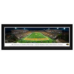Southern Miss Golden Eagles Football Stadium Framed Wall Art