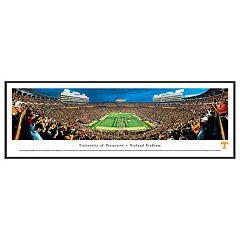 Tennessee Volunteers Football Stadium Power T Framed Wall Art