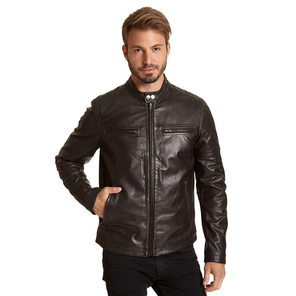 Men's Excelled Leather Racer Jacket