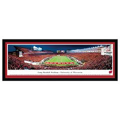 Wisconsin Badgers Football Stadium Nighttime Framed Wall Art