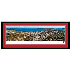 Wisconsin Badgers Football Stadium Aerial Framed Wall Art