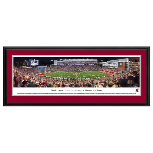 Washington State Cougars Football Stadium Framed Wall Art