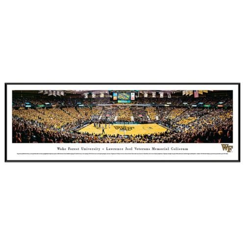 Wake Forest Demon Deacons Basketball Arena Framed Wall Art
