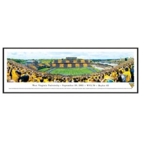 West Virginia Mountaineers Football Stadium 50-Yard Line Framed Wall Art