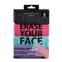 Danielle Creations Erase Your Face 4 pkReusable Makeup Removing Cloth