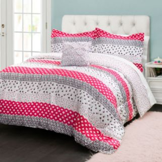 Lush Decor Franny Reversible Comforter Set