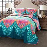 Lush Decor Boho Chic 3-piece Reversible Quilt Set