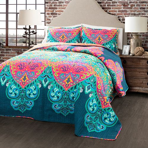 Lush Decor Boho Chic 3-piece Reversible Quilt Set
