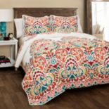 Lush Decor Clara 3 pc Reversible Quilt Set