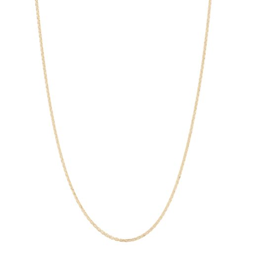 10k Gold Adjustable Wheat Chain Necklace