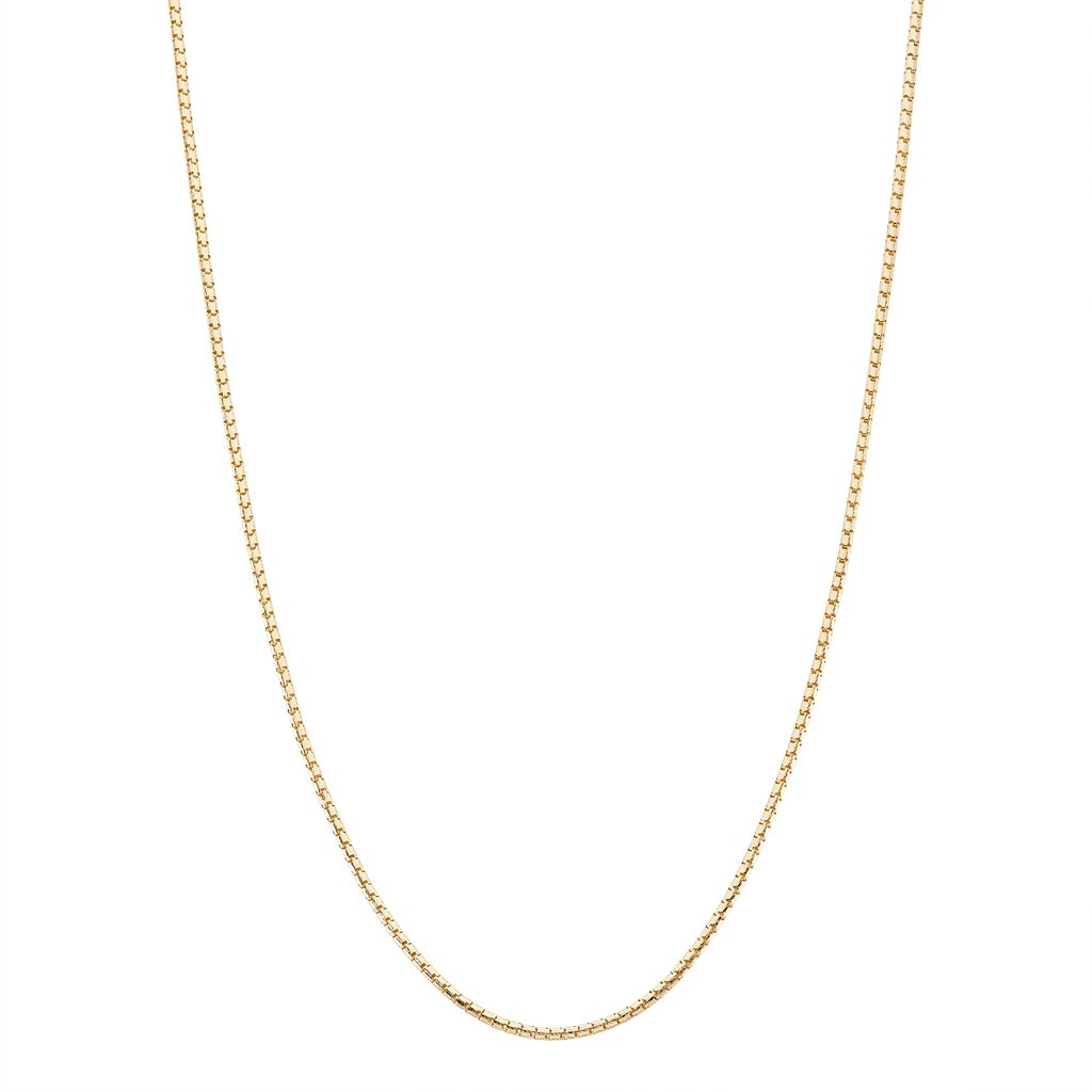 10k Gold Adjustable Milano Chain Necklace