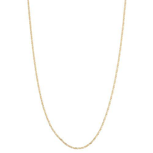 10k Gold Adjustable Twist Box Chain Necklace
