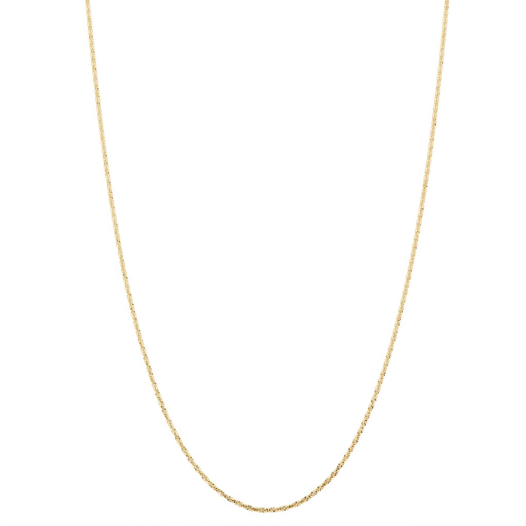 10k Gold Adjustable Cyclone Chain Necklace