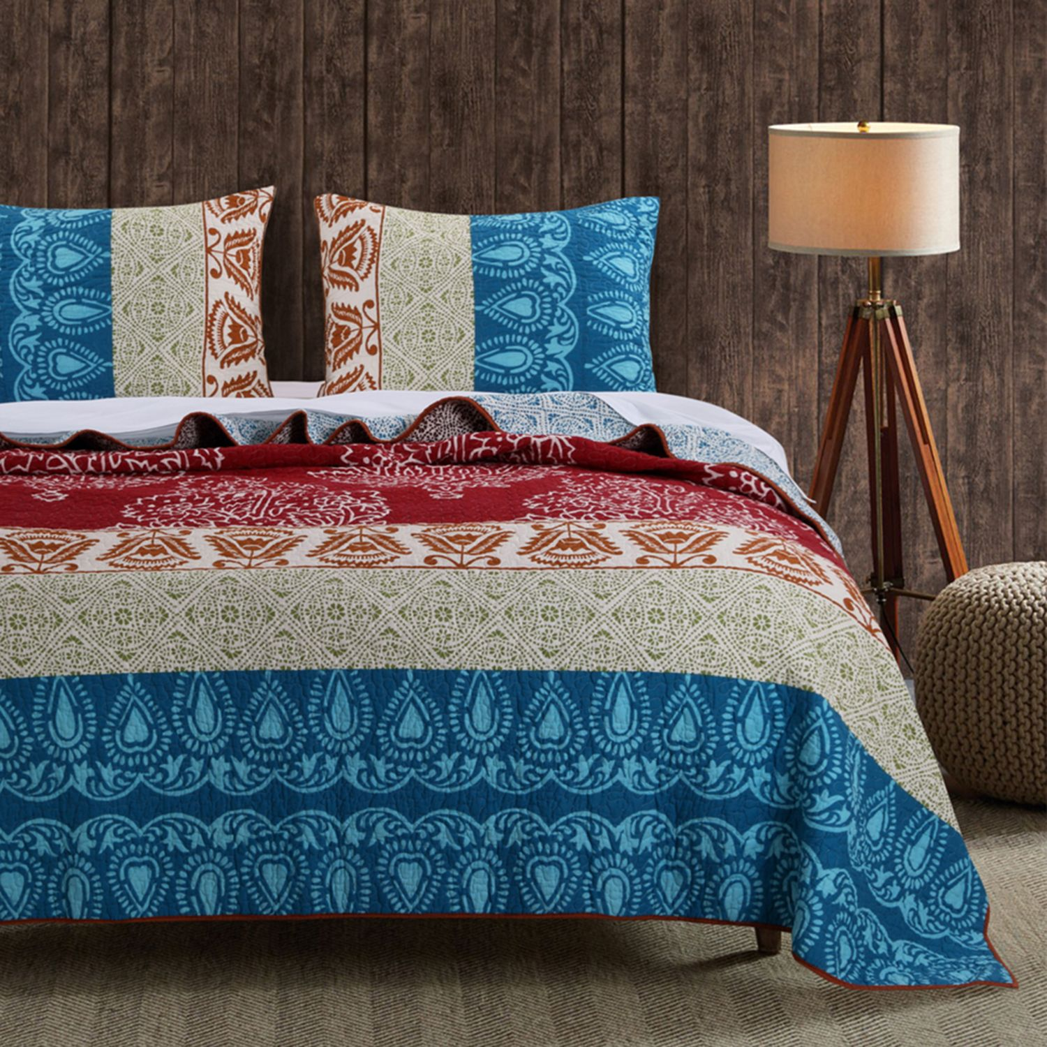 greenland home fashions kianna quilt set - Greenland Home Fashions