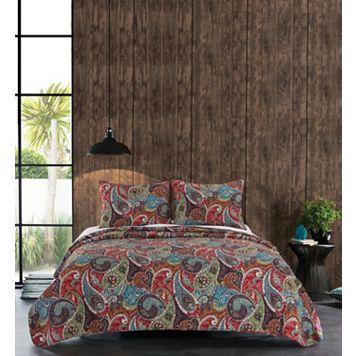 Greenland Home Fashions Tivoli Reversible Quilt Set