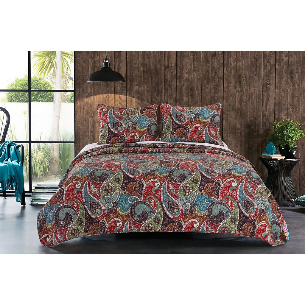 Greenland Home Fashions Tivoli Reversible Quilt Set