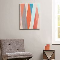 Intelligent Design Textured Geometric Pastel Box Canvas Wall Art