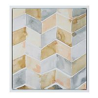 Intelligent Design Watercolor Chevron Framed Wall Art
