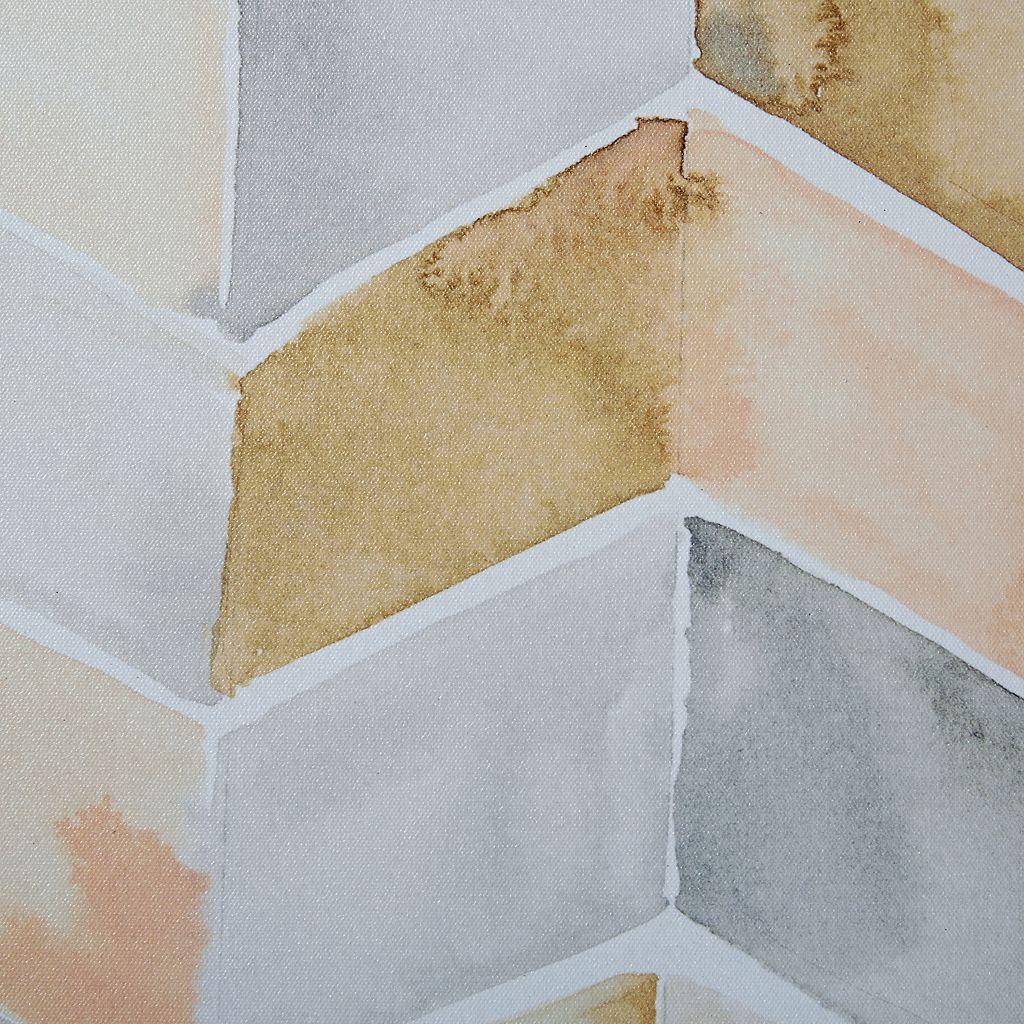 Intelligent Design Watercolor Chevron Framed Wall Art