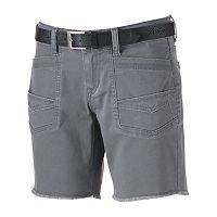 Juniors' Unionbay Belted Twill Bermuda Shorts