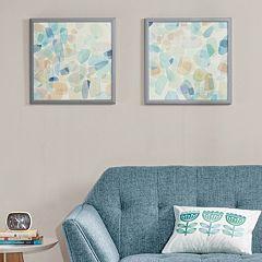 Intelligent Design Gemstone Tiles Deco Box Frame Wall Art 2-piece Set
