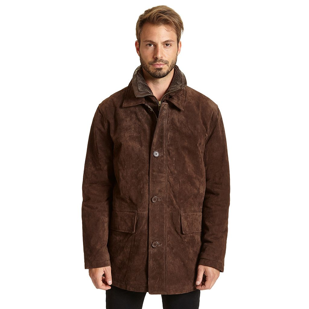 Men's Excelled Double-Collar Suede Jacket