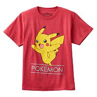 Boys 8-20 Pokemon Pikachu Jump Tee
