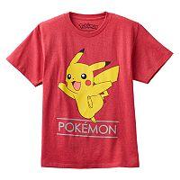Boys 8-20 Pokemon Pikachu Jump Tee