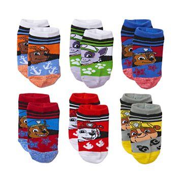 Boys Paw Patrol 6-Pack Low-Cut Socks