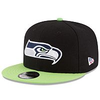 Men's New Era Seattle Seahawks 9FIFTY Flag Patch Snapback Cap