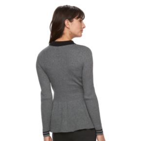 Women's ELLE™ Ribbed Peplum Sweater