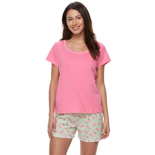 Women's Jockey Pajamas: 2-Piece Tee & Shorts PJ Set