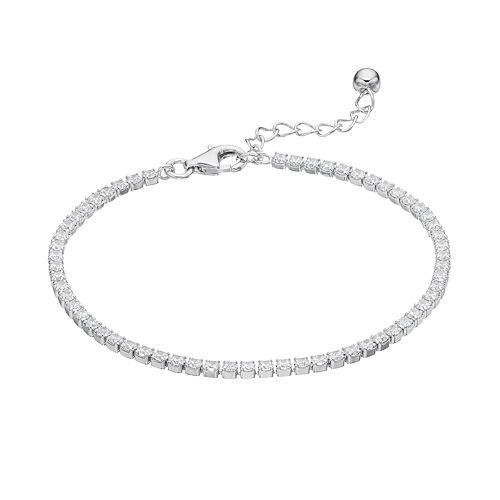 sterling silver cubic zirconia tennis bracelet. Black Bedroom Furniture Sets. Home Design Ideas