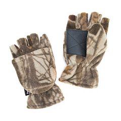 Men's QuietWear Waterproof Fleece Convertible Flip-Top Mittens