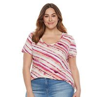Plus Size SONOMA Goods for Life™ Essential V-Neck Tee
