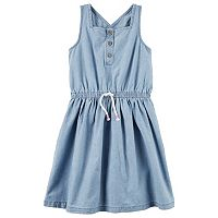Girls 4-8 Carter's Criss-Cross Back Chambray Dress