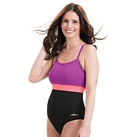 Women's Dolfin Colorblock X-Back One-Piece Swimsuit
