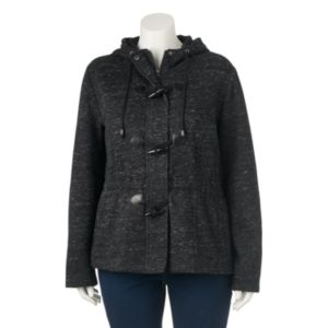 Juniors' Plus Size Sebby Marled Fleece Toggle Jacket